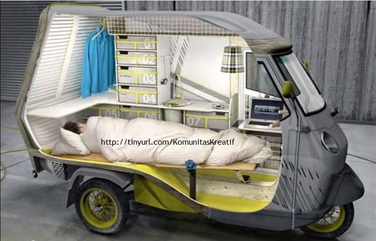 Modifikasi Motor Roda Tiga Untuk Ruang Kerja Internet Marketer